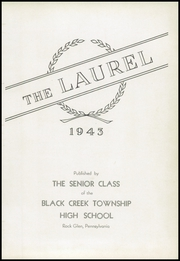 Page 5, 1943 Edition, Black Creek High School - Laurel Yearbook (Rock Glen, PA) online yearbook collection