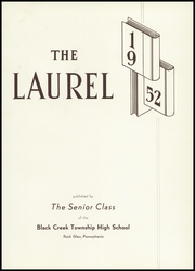 Page 5, 1952 Edition, Black Creek High School - Laurel Yearbook (Rock Glen, PA) online yearbook collection