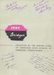 Page 5, 1941 Edition, Ambridge High School - Bridger Yearbook (Pittsburgh, PA) online yearbook collection