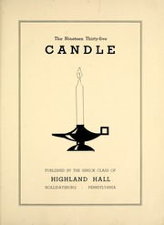 Page 7, 1935 Edition, Highland Hall School - Candle Yearbook (Hollidaysburg, PA) online yearbook collection