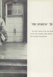 Page 7, 1951 Edition, New Freedom High School - Spartan Yearbook (New Freedom, PA) online yearbook collection