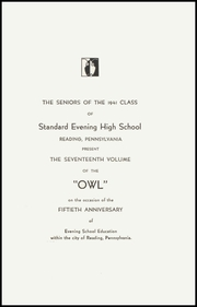 Page 7, 1941 Edition, Evening High School - Owl Yearbook (Reading, PA) online yearbook collection