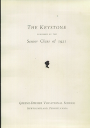 Page 9, 1921 Edition, Greene Dreher Vocational School - Keystone Yearbook (Newfoundland, PA) online yearbook collection