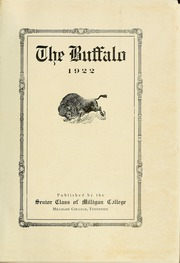 Page 5, 1922 Edition, Milligan College - Buffalo Yearbook (Elizabethton, TN) online yearbook collection