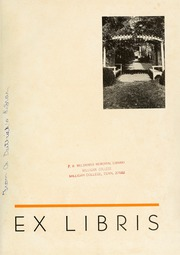 Page 5, 1937 Edition, Milligan College - Buffalo Yearbook (Elizabethton, TN) online yearbook collection