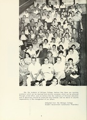 Page 10, 1959 Edition, Milligan College - Buffalo Yearbook (Elizabethton, TN) online yearbook collection