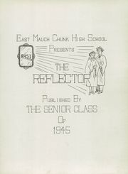 Page 7, 1945 Edition, East Mauch Chunk High School - Reflector Yearbook (East Mauch Chunk, PA) online yearbook collection