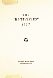 Page 7, 1937 Edition, Cressona High School - Hi Tivities Yearbook (Cressona, PA) online yearbook collection