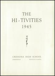 Page 5, 1945 Edition, Cressona High School - Hi Tivities Yearbook (Cressona, PA) online yearbook collection