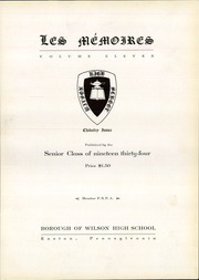 Page 9, 1934 Edition, Wilson Borough High School - Des Memoires Yearbook (Allentown, PA) online yearbook collection