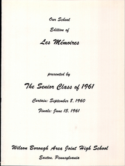 Page 3, 1961 Edition, Wilson Borough High School - Des Memoires Yearbook (Allentown, PA) online yearbook collection