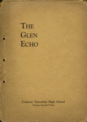 1930 Edition, Codorus High School - Glen Echo Yearbook (Glenville, PA)