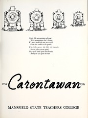 Page 11, 1954 Edition, Mansfield University - Carontawan Yearbook (Mansfield, PA) online yearbook collection