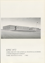 Page 5, 1972 Edition, York County Vocational Technical High School - Epic Yearbook (York, PA) online yearbook collection