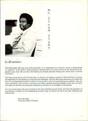 Page 9, 1973 Edition, Lincoln University - Lion Yearbook (Lincoln University, PA) online yearbook collection
