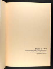 Page 5, 1971 Edition, Philadelphia University - Analysis Yearbook (Philadelphia, PA) online yearbook collection