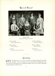 Page 13, 1924 Edition, U Of Penn Women Student Govt - Record Book Yearbook (Philadelphia, PA) online yearbook collection