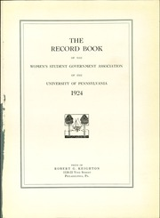 Page 5, 1924 Edition, U Of Penn Women Student Govt - Record Book Yearbook (Philadelphia, PA) online yearbook collection