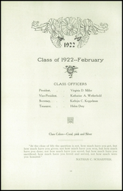 Page 16, 1922 Edition, Girls High School - Yearbook (Reading, PA) online yearbook collection