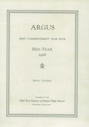 Page 7, 1926 Edition, Harrisburg Central High School - Yearbook (Harrisburg, PA) online yearbook collection
