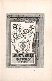Page 12, 1893 Edition, Lafayette College - Melange Yearbook (Easton, PA) online yearbook collection