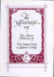 Page 7, 1927 Edition, Lafayette College - Melange Yearbook (Easton, PA) online yearbook collection