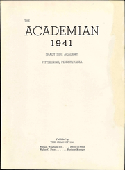 Page 9, 1941 Edition, Shady Side Academy - Academian Yearbook (Pittsburgh, PA) online yearbook collection