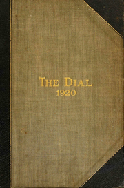 Page 1, 1920 Edition, The Hill School - Dial Yearbook (Pottstown, PA) online yearbook collection