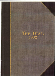 Page 1, 1932 Edition, The Hill School - Dial Yearbook (Pottstown, PA) online yearbook collection