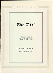 Page 9, 1932 Edition, The Hill School - Dial Yearbook (Pottstown, PA) online yearbook collection