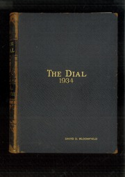 1934 Edition, The Hill School - Dial Yearbook (Pottstown, PA)