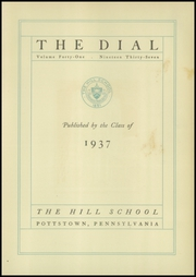 Page 7, 1937 Edition, The Hill School - Dial Yearbook (Pottstown, PA) online yearbook collection