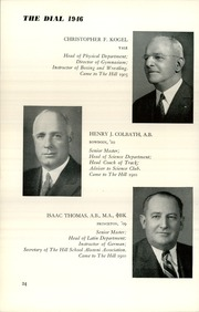 Page 26, 1946 Edition, The Hill School - Dial Yearbook (Pottstown, PA) online yearbook collection