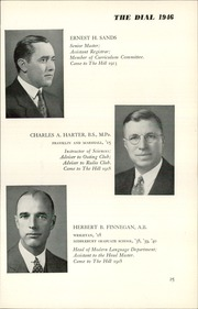 Page 27, 1946 Edition, The Hill School - Dial Yearbook (Pottstown, PA) online yearbook collection