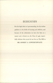Page 8, 1946 Edition, The Hill School - Dial Yearbook (Pottstown, PA) online yearbook collection