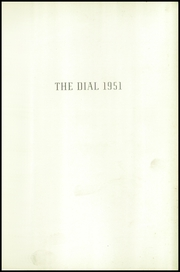 Page 5, 1951 Edition, The Hill School - Dial Yearbook (Pottstown, PA) online yearbook collection