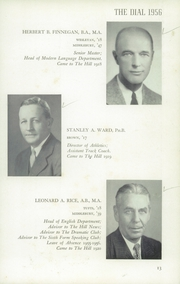 Page 17, 1956 Edition, The Hill School - Dial Yearbook (Pottstown, PA) online yearbook collection