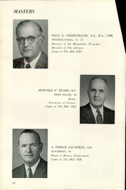 Page 14, 1957 Edition, The Hill School - Dial Yearbook (Pottstown, PA) online yearbook collection