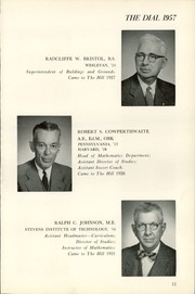 Page 15, 1957 Edition, The Hill School - Dial Yearbook (Pottstown, PA) online yearbook collection