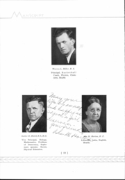 Page 12, 1933 Edition, Mansfield High School - Manscript Yearbook (Mansfield, PA) online yearbook collection
