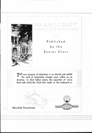 Page 5, 1933 Edition, Mansfield High School - Manscript Yearbook (Mansfield, PA) online yearbook collection