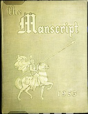 1953 Edition, Mansfield High School - Manscript Yearbook (Mansfield, PA)