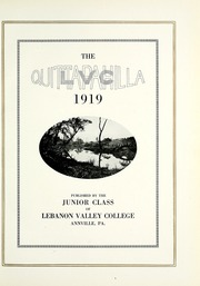 Page 9, 1919 Edition, Lebanon Valley College - Quittapahilla Yearbook (Annville, PA) online yearbook collection