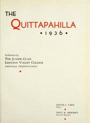 Page 9, 1936 Edition, Lebanon Valley College - Quittapahilla Yearbook (Annville, PA) online yearbook collection