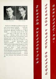 Page 9, 1938 Edition, Lebanon Valley College - Quittapahilla Yearbook (Annville, PA) online yearbook collection