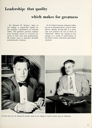 Page 15, 1956 Edition, Lebanon Valley College - Quittapahilla Yearbook (Annville, PA) online yearbook collection