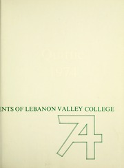 Page 3, 1974 Edition, Lebanon Valley College - Quittapahilla Yearbook (Annville, PA) online yearbook collection