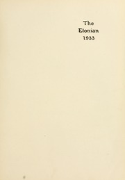 Page 7, 1933 Edition, Elizabethtown College - Conestogan / Etonian Yearbook (Elizabethtown, PA) online yearbook collection