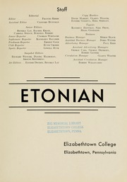 Page 7, 1947 Edition, Elizabethtown College - Conestogan / Etonian Yearbook (Elizabethtown, PA) online yearbook collection