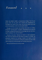 Page 7, 1959 Edition, Elizabethtown College - Conestogan / Etonian Yearbook (Elizabethtown, PA) online yearbook collection